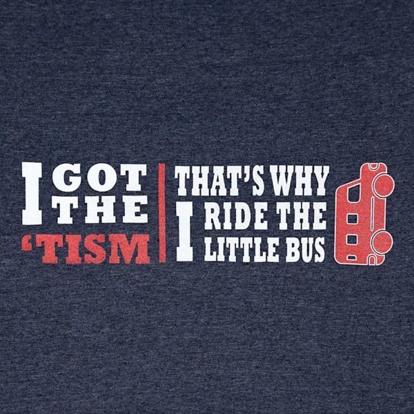 Why I Ride the Little Bus T-Shirt Dark design